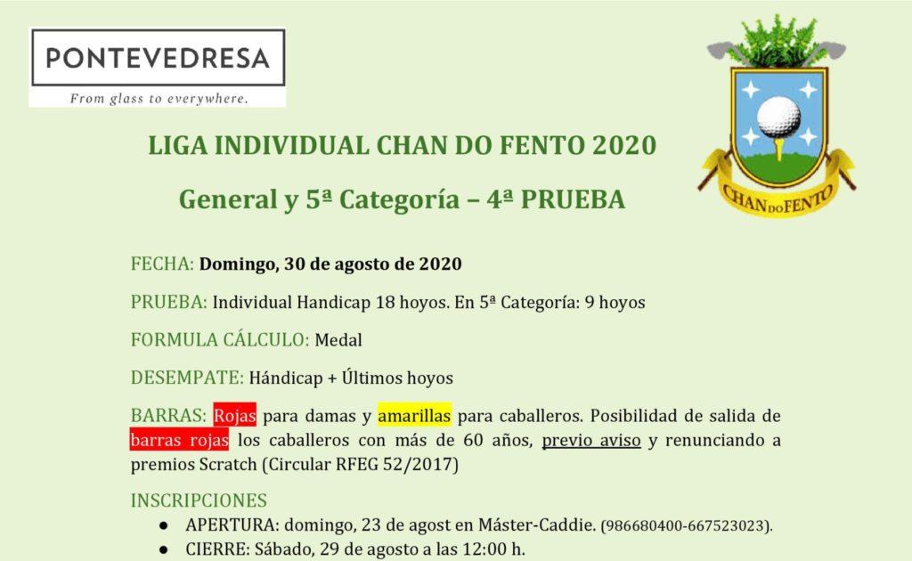 Liga Chandofento 30 De Agosto 2020