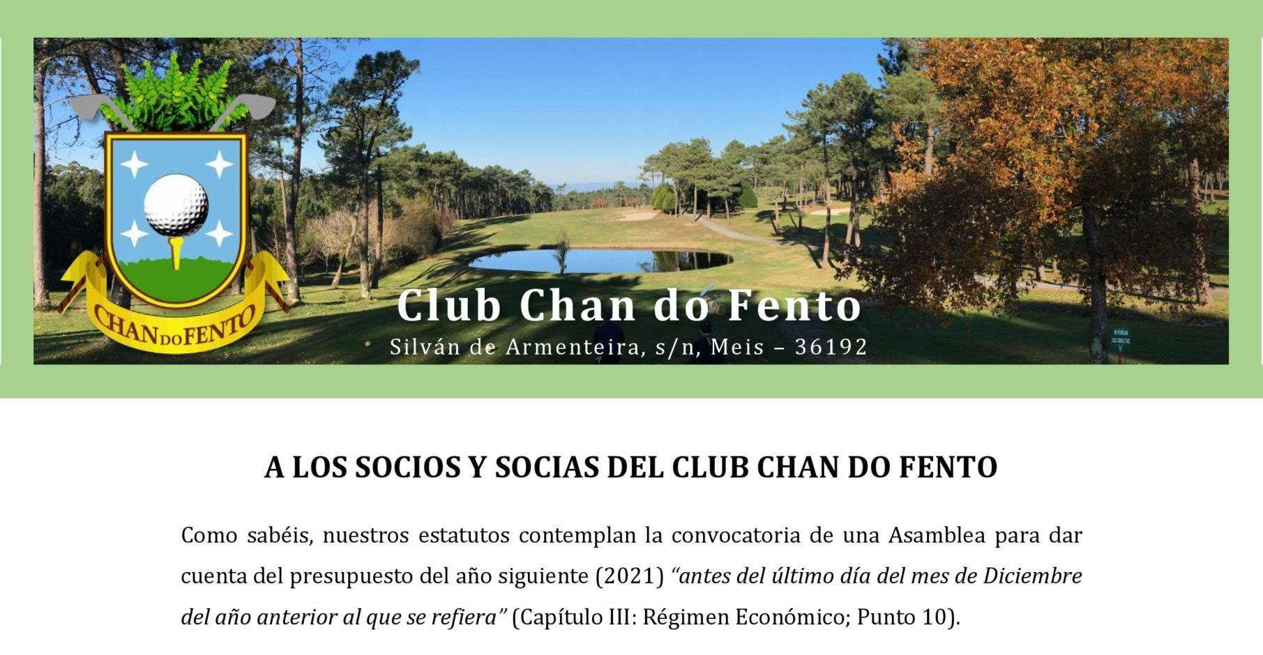 A Los Socios Y Socias Del Club Chan Do Fento Page 001